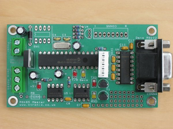 A picture of the XM2000 Master Module PCB