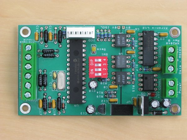 A picture of the 2040 Analogue Voltage Module PCB