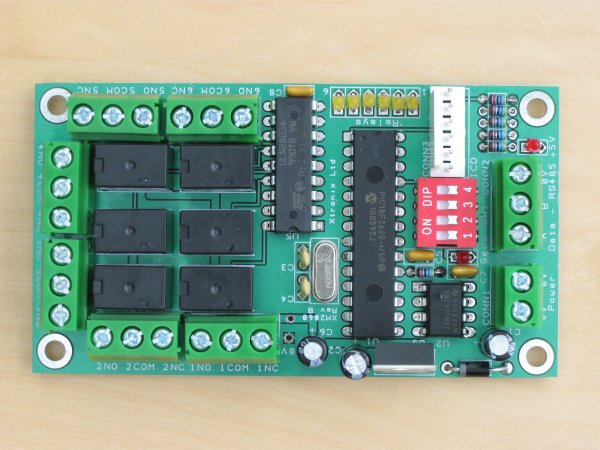 A picture of the XM2060 Relay Module PCB