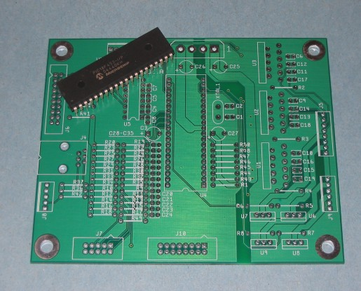 A picture of the Robotic Arm Controller PCB